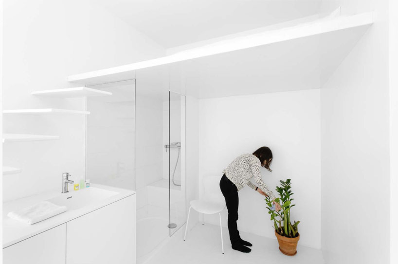 Modern paris apartment bathroom tiny parisian studio apartment uses innovative lighting techniques