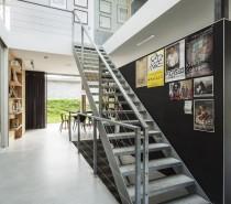 Modern Rural Home stairway