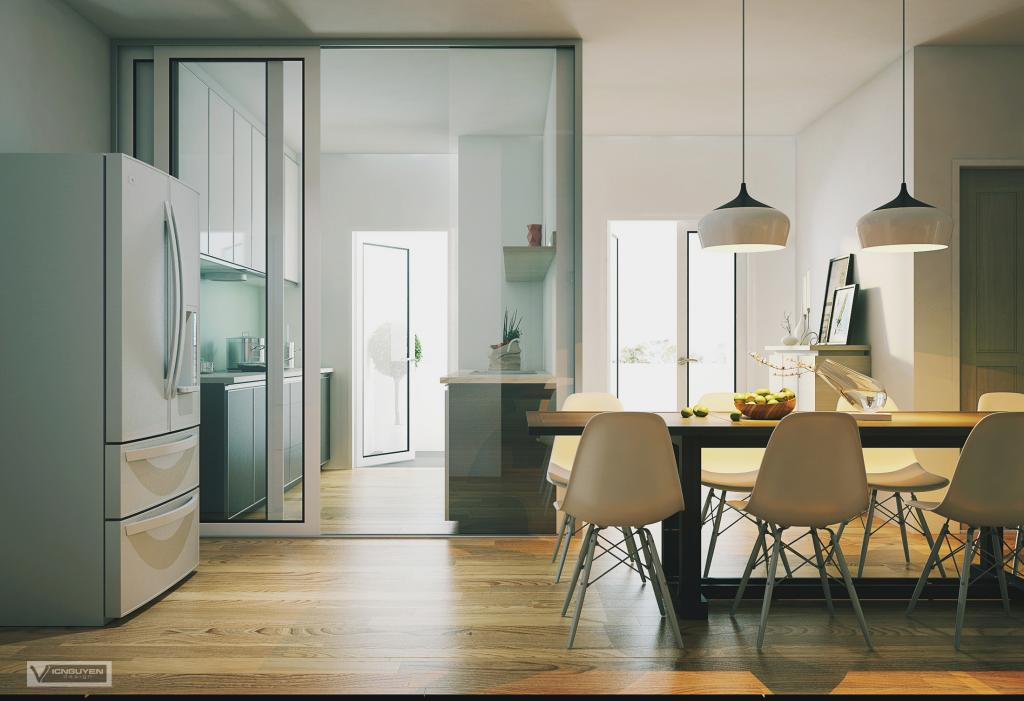 Dining room fridge interior design ideas - Apartment dining room ideas ...