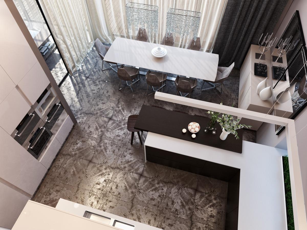 modern neutral dining room kitchen 1 interior design ideas