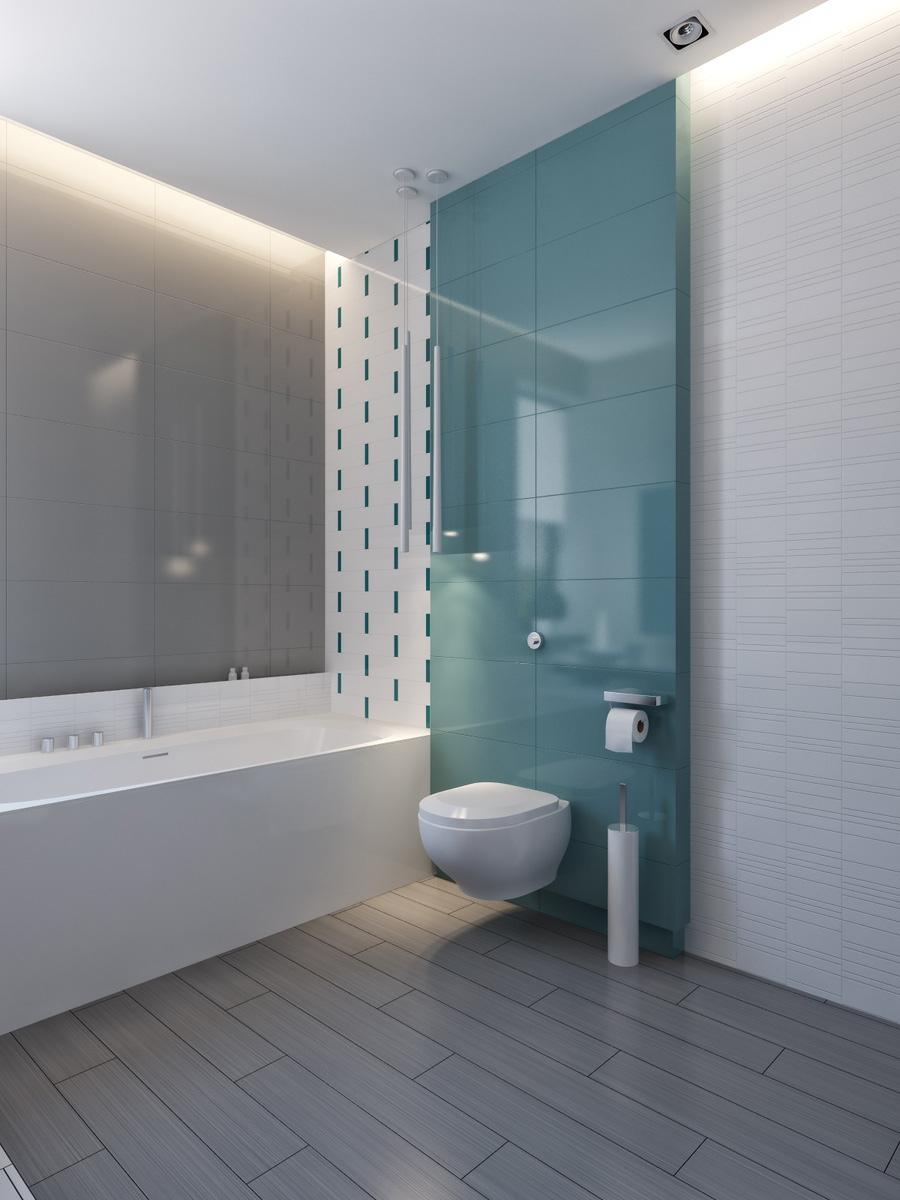 Interior Design Ideas & modern vibrant blue bathroom 4   Interior Design Ideas.