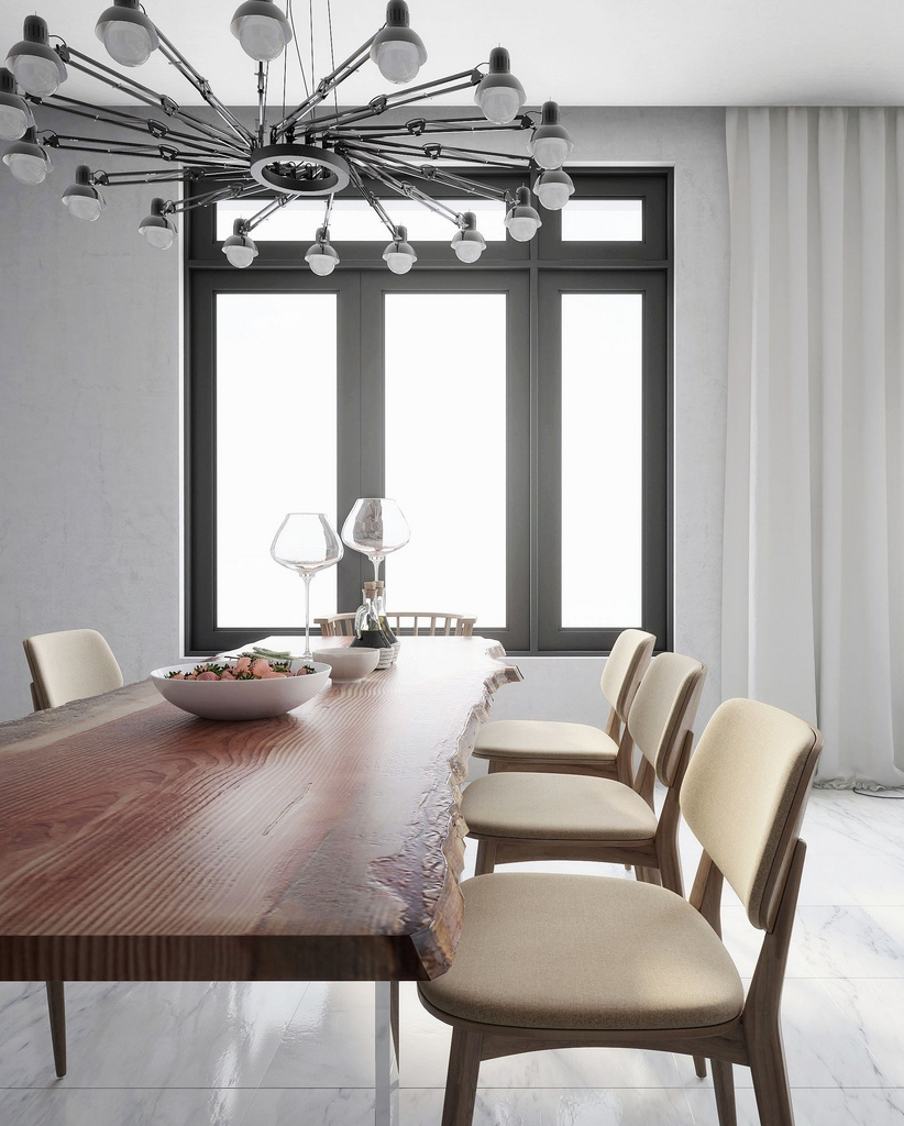 Orgainc Vibe Meets Industrial Style Dining
