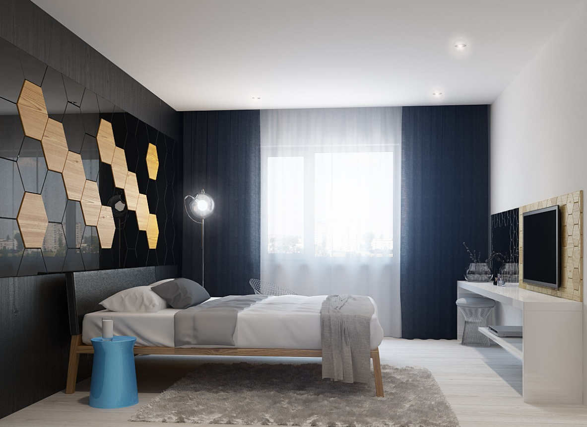 bedroom wall design interior design ideas. Black Bedroom Furniture Sets. Home Design Ideas