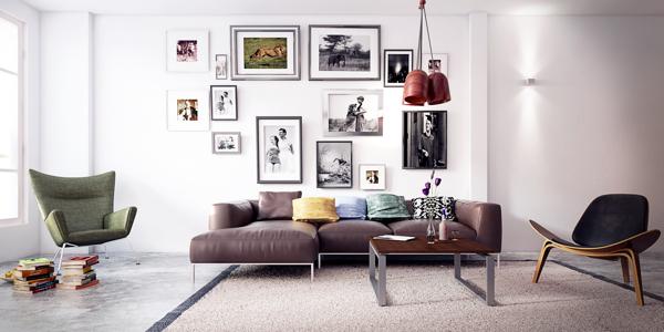five apartments by koj design visualized. Black Bedroom Furniture Sets. Home Design Ideas