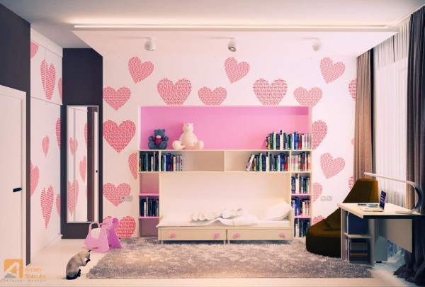 fresh modern designs from andrey sokruta 14811 | pink kids room designs 600x405