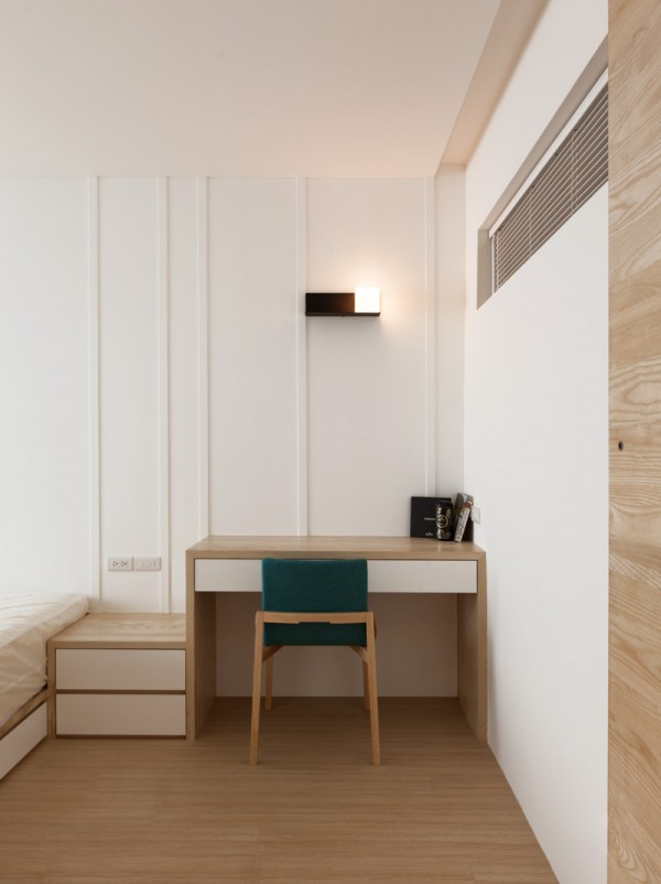 Modern Study Room: Modern Apartment Design Maximizes Space, Minimizes Distraction