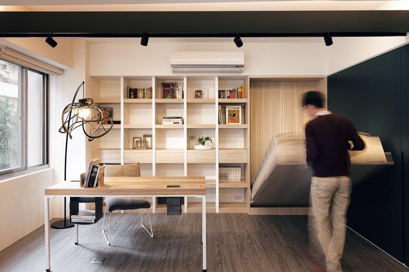 Small E Murphy Bed Interior