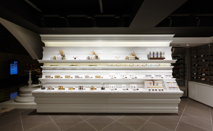 Bakery and wine shop interior design