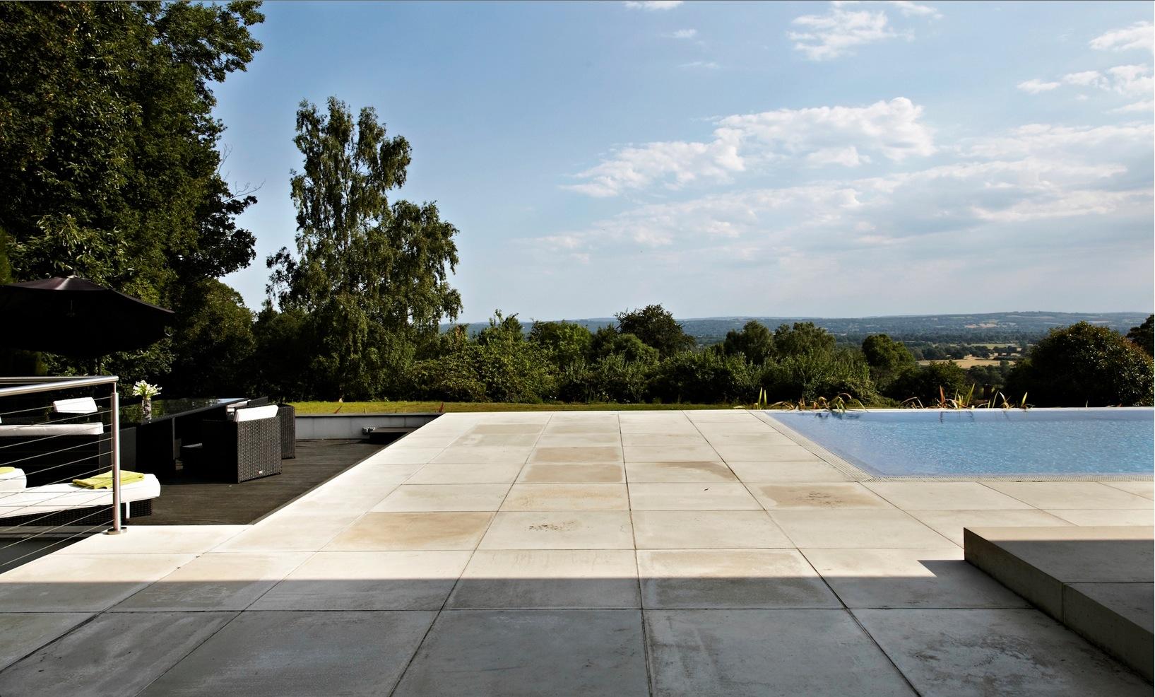 Concrete Patio And Seating Area Interior Design Ideas