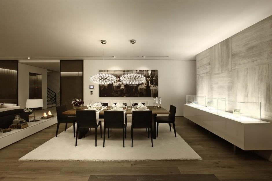 dim lighting dining room interior design ideas. Black Bedroom Furniture Sets. Home Design Ideas