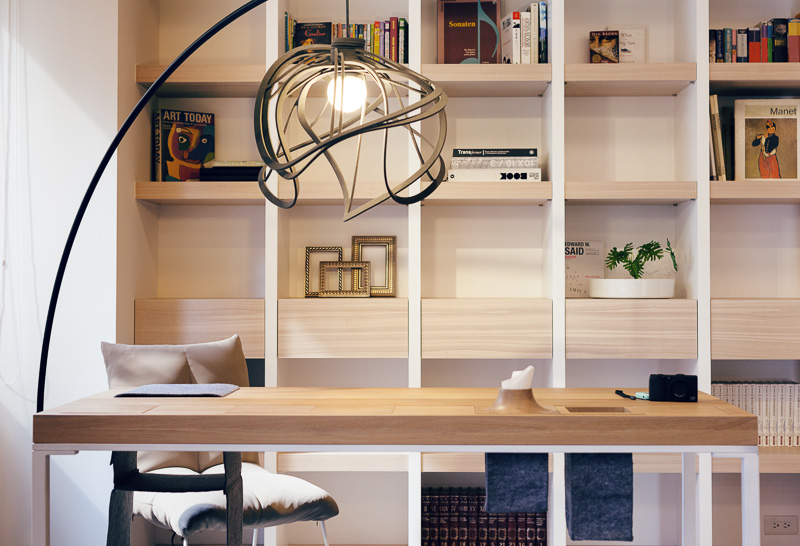 Hidden storage desk small home with smart use of space taiwan