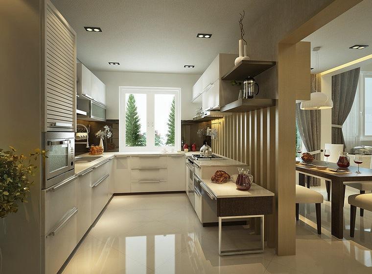 large window kitchen space | Interior Design Ideas.