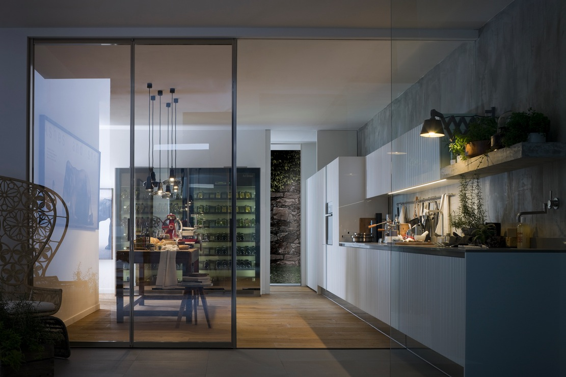kitchen design with glass wall modern italian kitchen design from arclinea 771