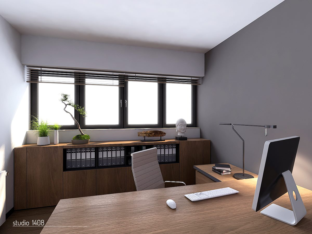 Apartment living for the modern minimalist - Interior design home office space ...