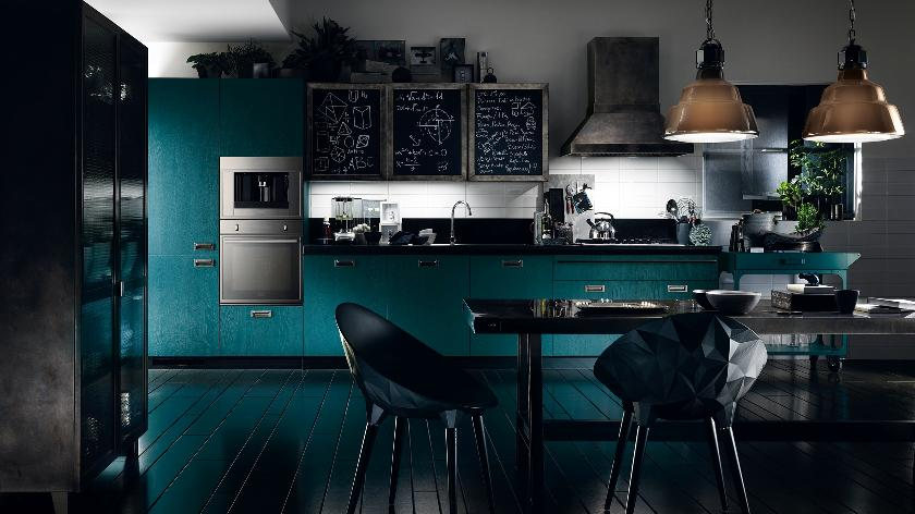 modern turquoise kitchen design | Interior Design Ideas.