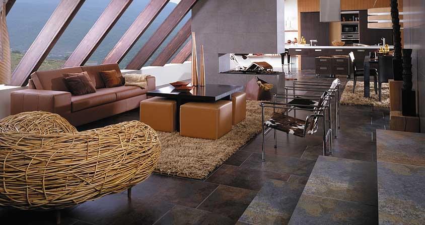 Natural Stone Floor Tiles Interior Design Ideas