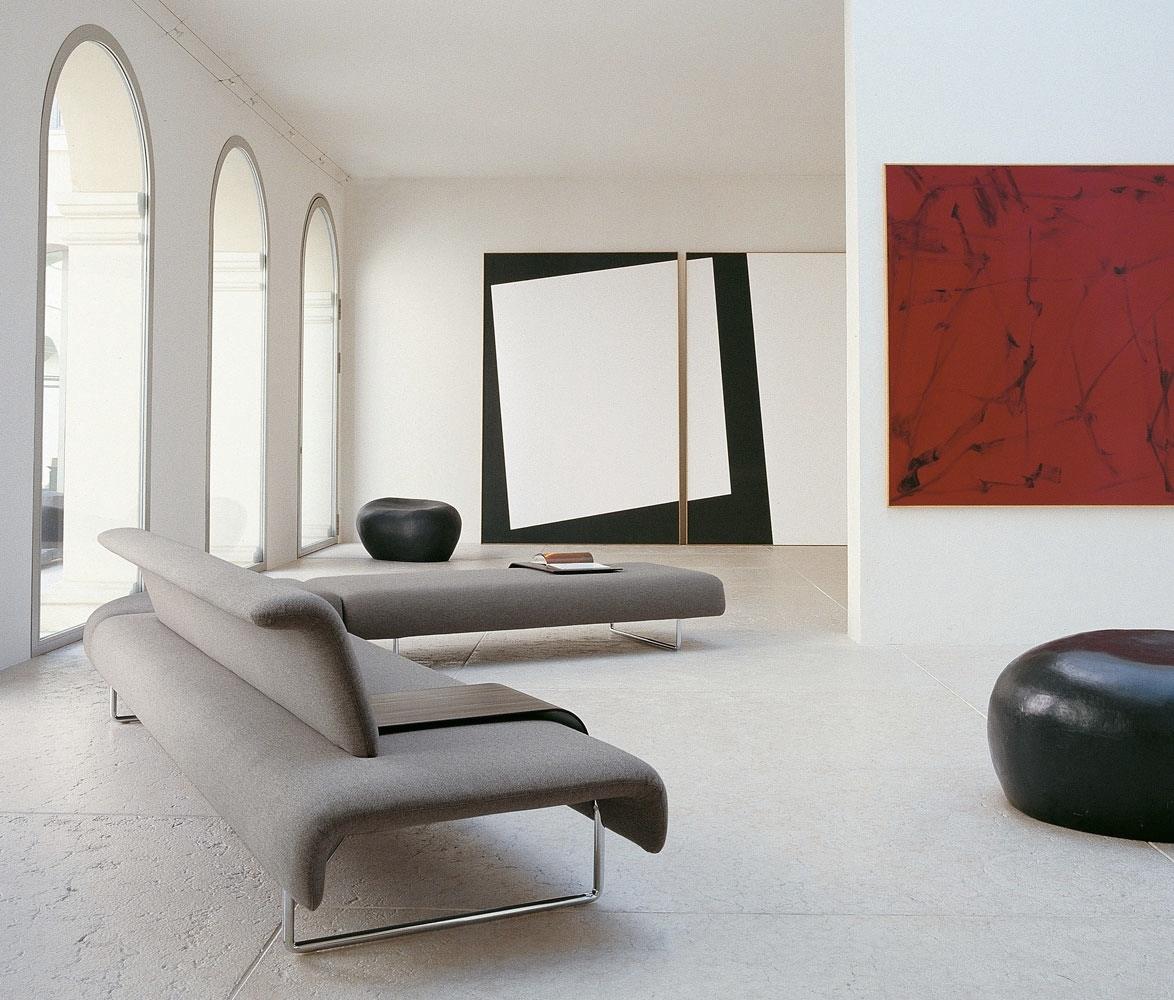 Contemporary Home Style By B B Italia: Neutral Sofa Chrome Legs