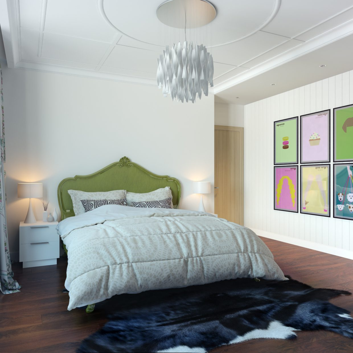 modern bedroom wall modern pop style apartment 12523