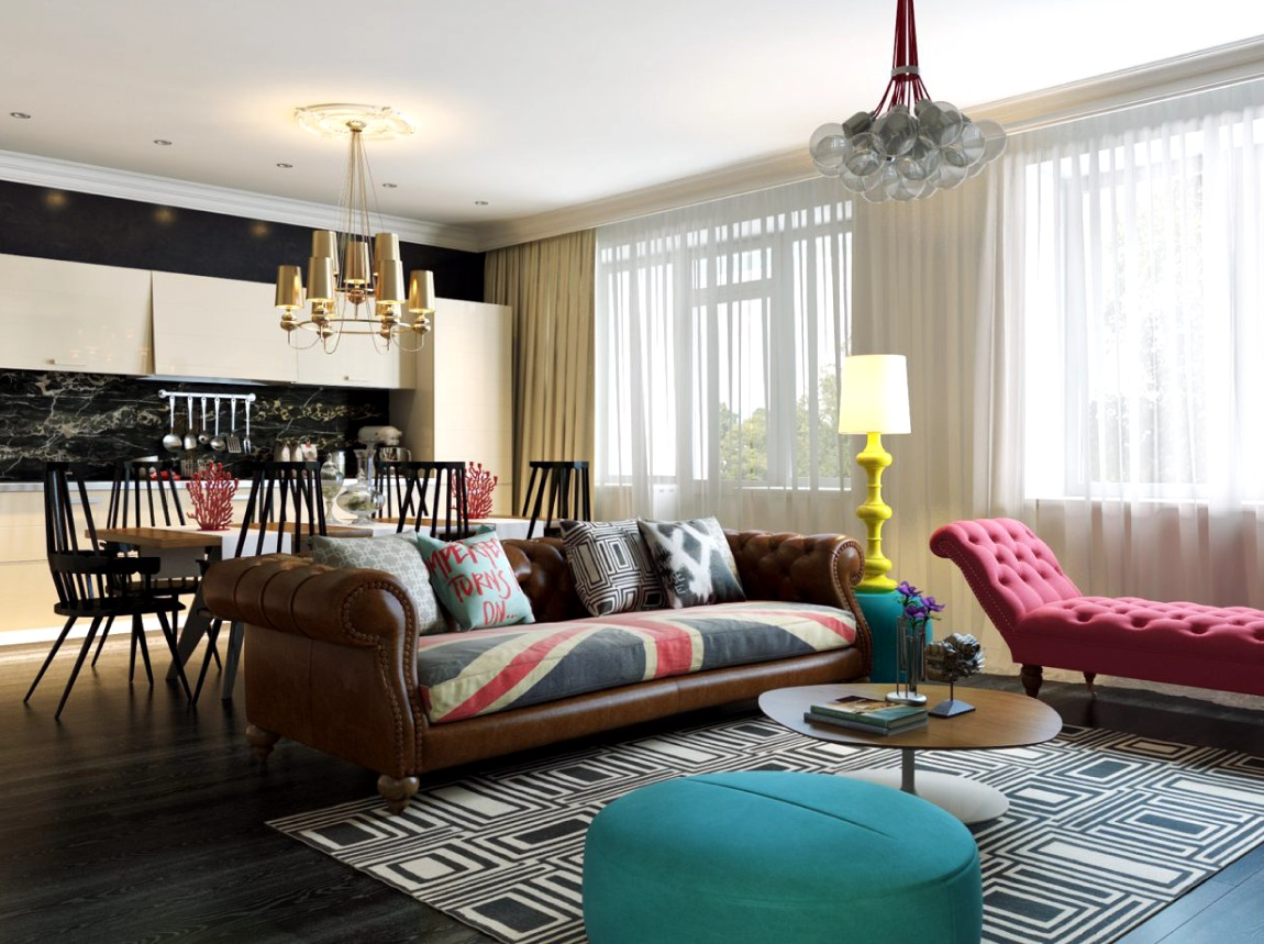 interior design home styles.  Modern Pop Art Style Apartment