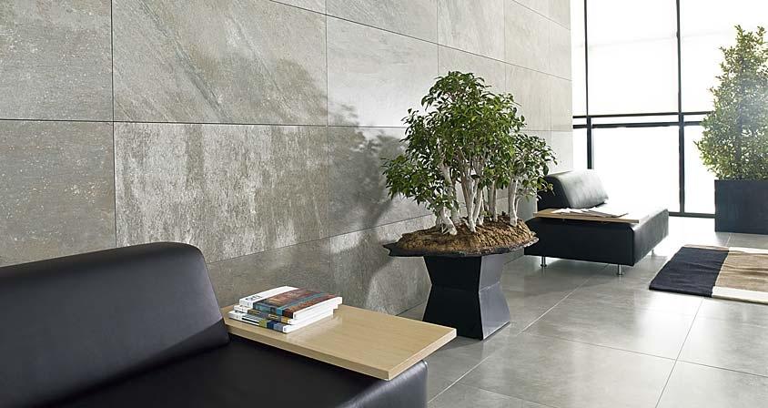 Tile Wall Lobby Interior Design Ideas
