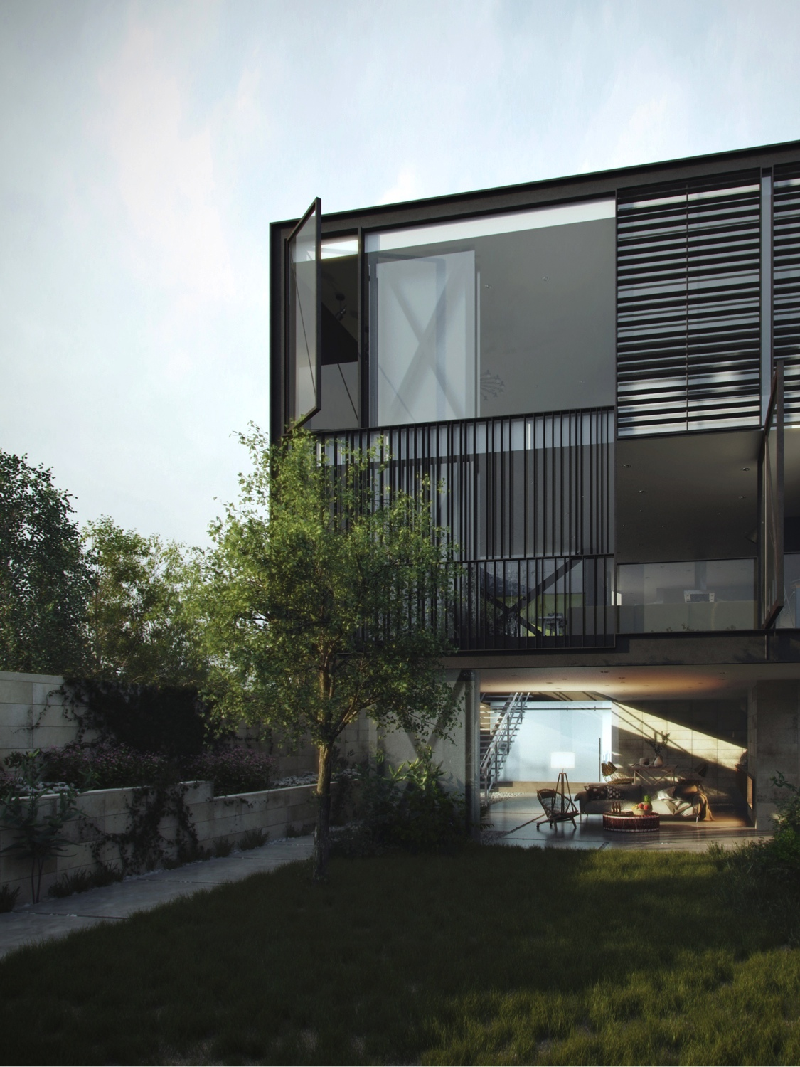 Architectural concept of a glass box home - Lloyds architecture planning interiors ...