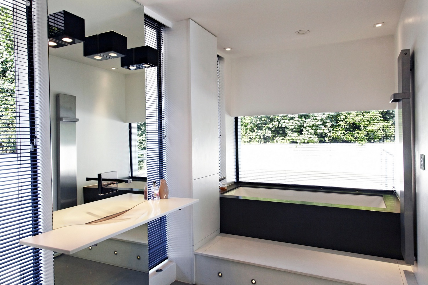 Bathroom Wall Mirrors: Contemporary Home Open To Panoramic Views