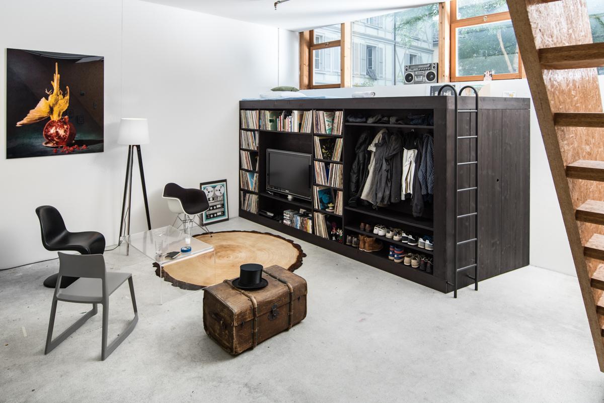1 Modern Rustic Studio Apartmentinterior Design Ideas