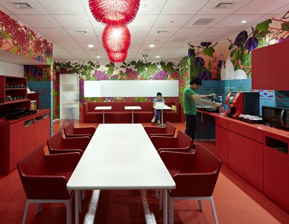 18 Red Dining Room Office Interior Design Ideas