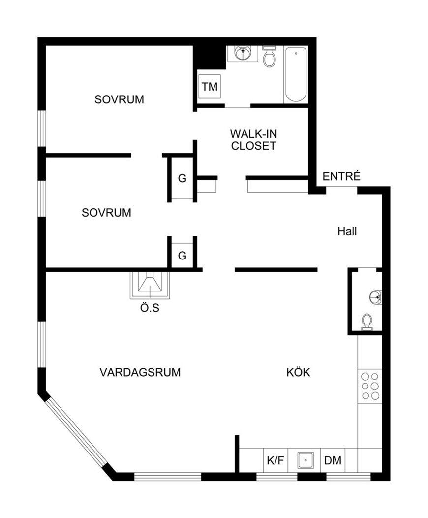 sunny swedish apartment. Black Bedroom Furniture Sets. Home Design Ideas