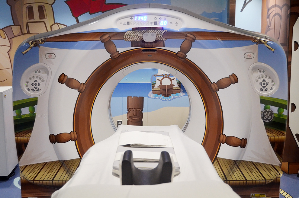 Pirate theme ct scanner makes things less scary for kids