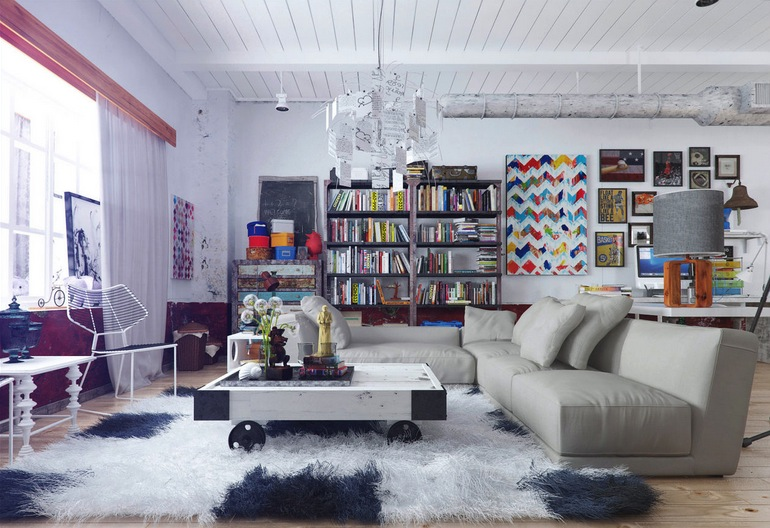 Colorful and funky interiors visualized - Funky decorating ideas for living rooms ...