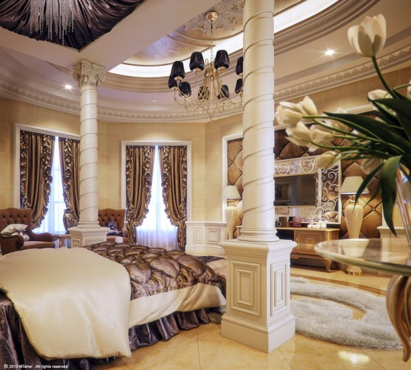 Mansion Master Bedroom: Regal Interiors