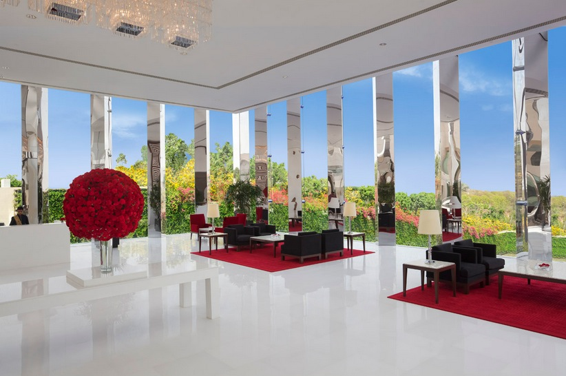 Glamorous Hotel Lobby
