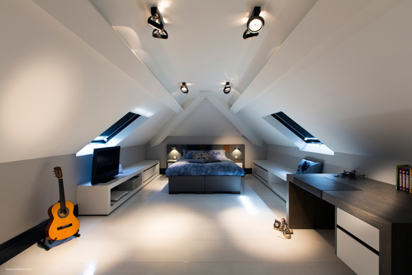 ideas for attic storage closet - Ultramodern Sleek House With Sharp Lines