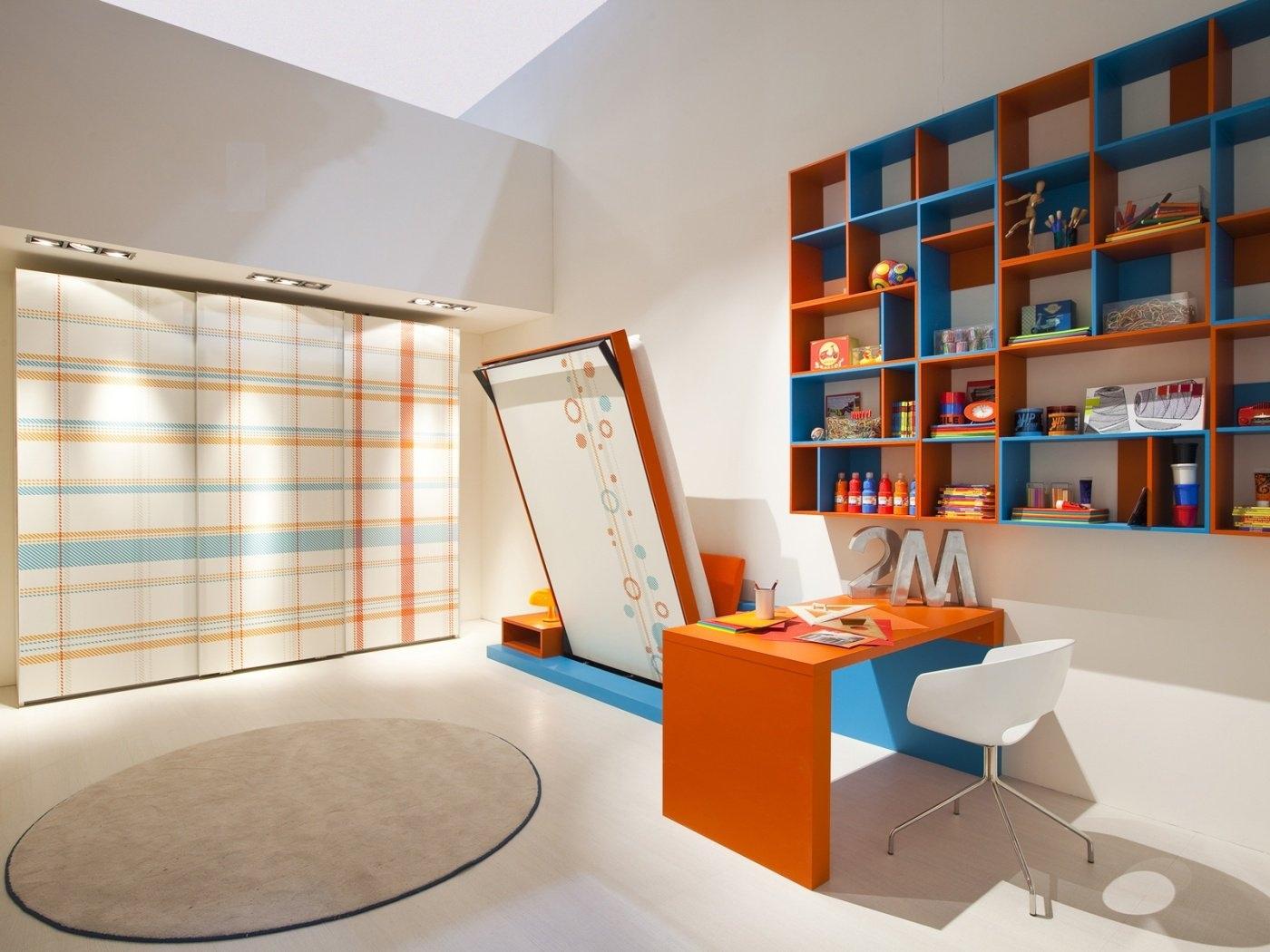 Folding Double Bed Interior Design Ideas
