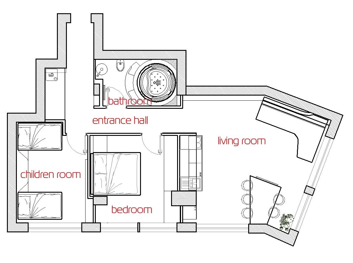 Futuristic Floor Planinterior Design Ideas