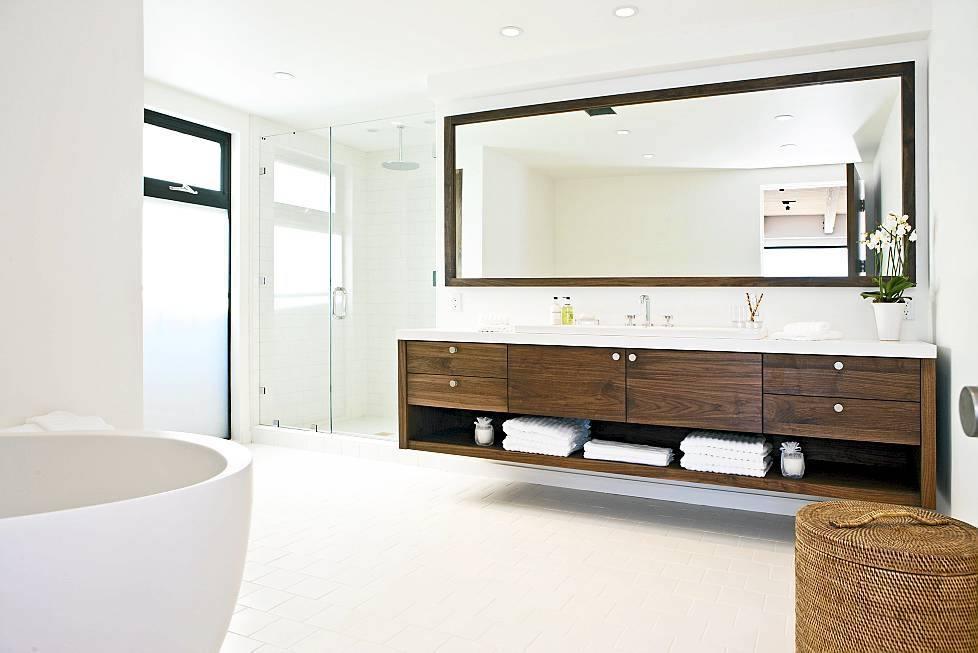 Gleaming White Bathroom Interior