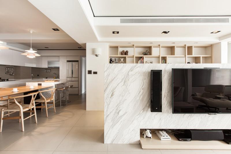 Marble Display Wall Interior Design Ideas