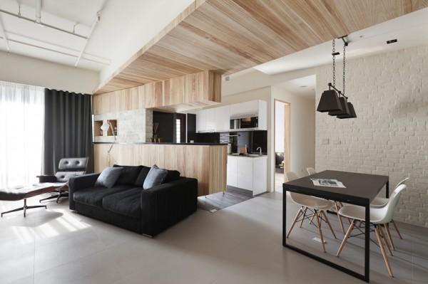 Light And Dark Apartment Design Inspiration
