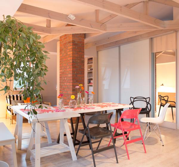 Sawhorse Dining Table Interior Design