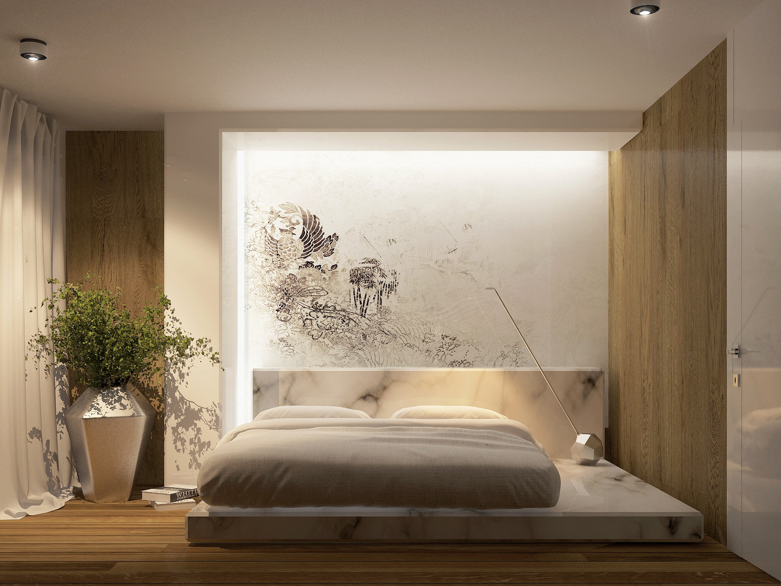 Futuristic Interior Design on Minimalist Modern Simple Bedroom Design  id=18775