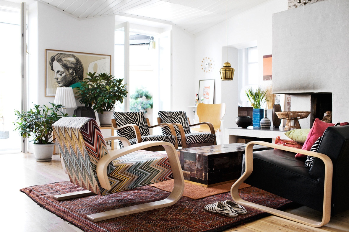 Mismatched Chairs Living Room