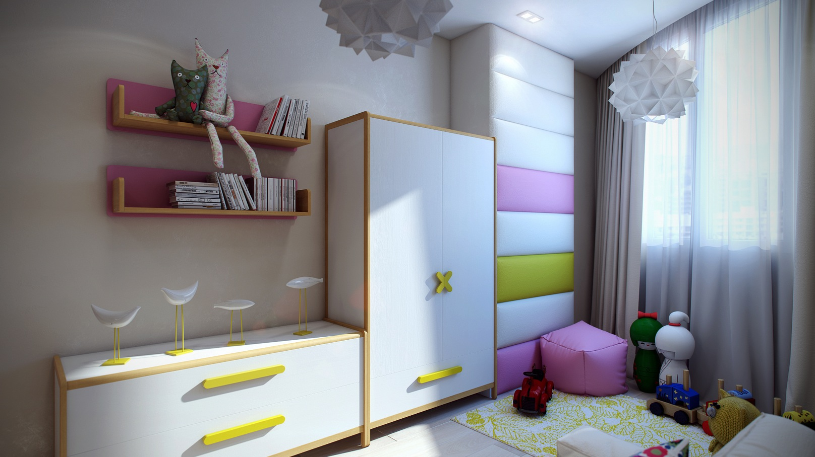 7 Inspiring Kid Room Color Options For Your Little Ones: Casting Color Over Kids Rooms