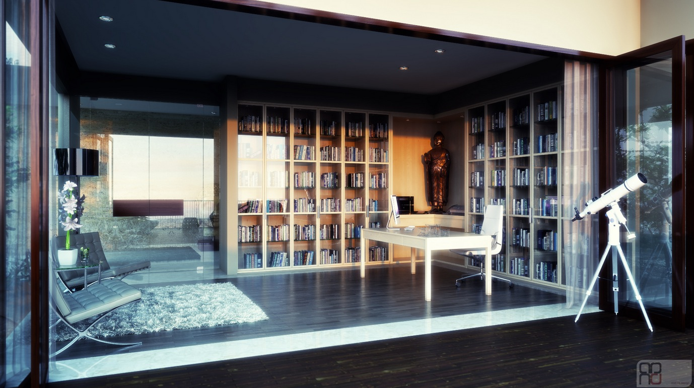 Beautiful home offices workspaces - Studio in casa arredamento ...
