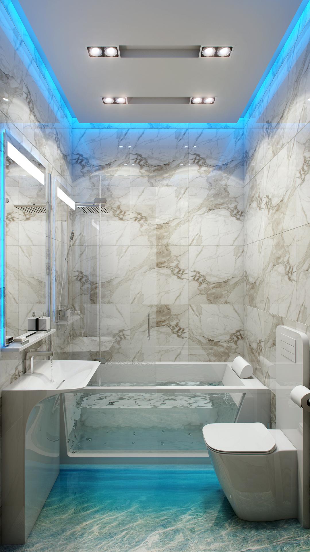 Bathroom Led Lighting Scheme Interior