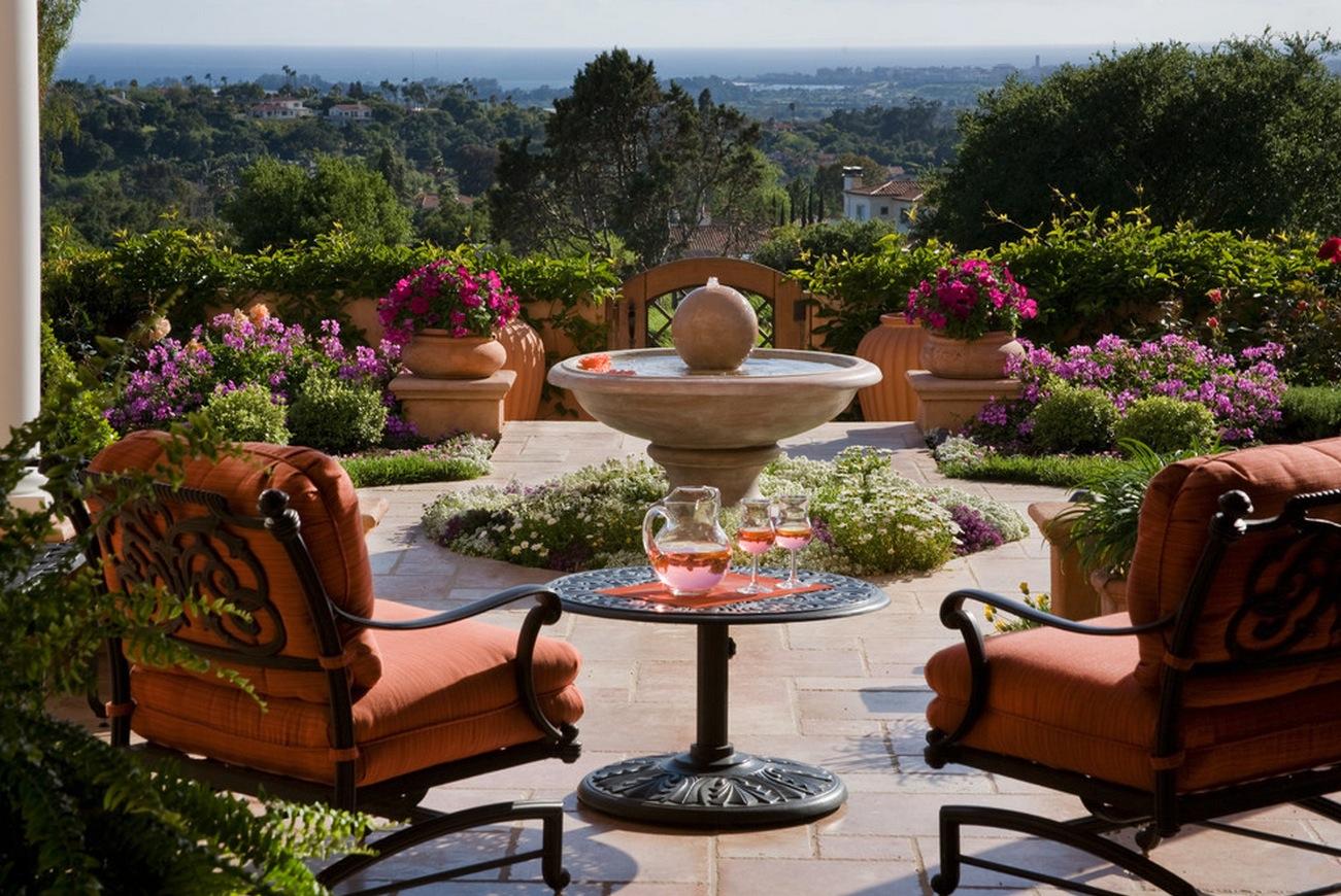 patio fountain interior design ideas. Black Bedroom Furniture Sets. Home Design Ideas