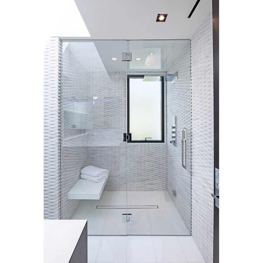 Textured White Tiles Interior Design