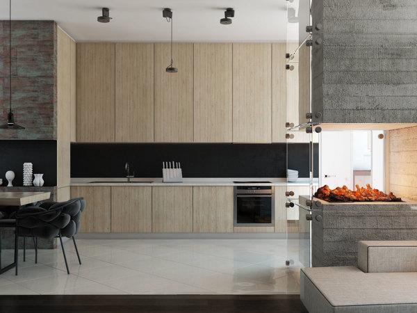 Beech Wood Kitchen Interior Design Ideas