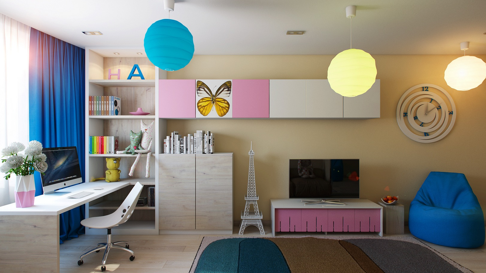 casting color over kids rooms. Black Bedroom Furniture Sets. Home Design Ideas