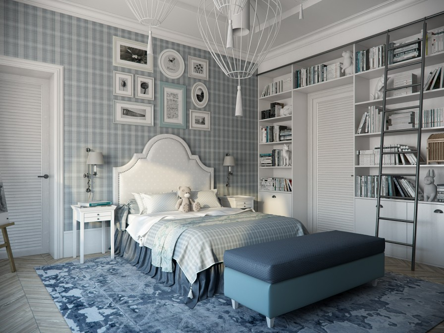 Blue Bedroom Interior Design Ideas